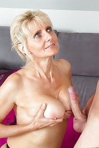 Sexy old MOM takes young cock PART 1