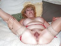 Granny's spread ass and pussy 3