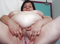 Granny's spread ass and pussy 1