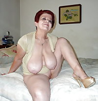 Beautiful Redheaded Granny with Big Tits