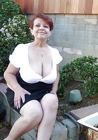 Beautiful Redheaded Granny with Big Tits