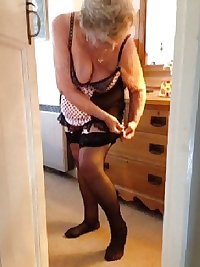 78 year old granny and her lingerie sue