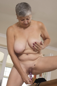 Granny has a tight shaved pussy hole