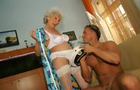 Granny mom take a yonger cock