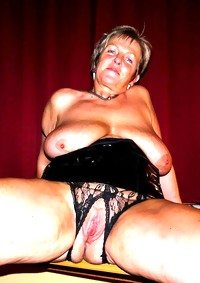 This horny big titted granny slut sure loves them cocks