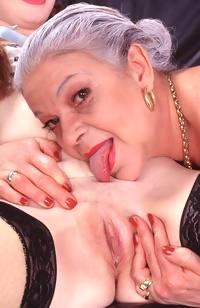 Granny lingerie slut