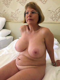 This chubby granny slut loves two cocks at the same time