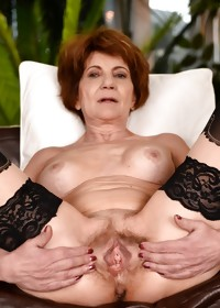 This horny granny slut loves a younger cock inside her