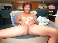 This big titted granny slut is showing you her stuff