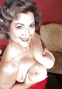 This granny biker chick gives you a striptease