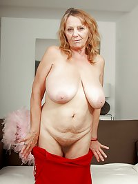 This granny wants a hard cock in her holes