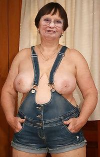 This granny slut loves cock and cum