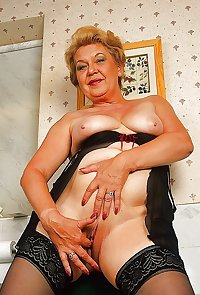 This granny slut loves cock and cum