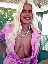 Horny Blonde Granny Loves to Show Off