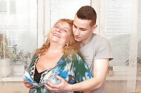 Granny with very BIG boobs fucked by toy boy 1